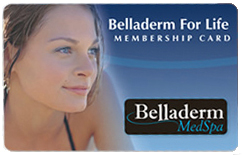 Belladerm for Life card